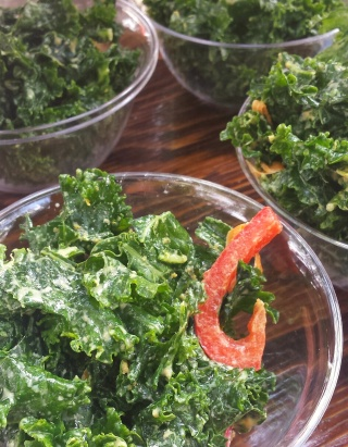 cheesy kale